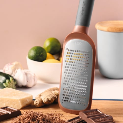 BergHOFF Leo Coarse Paddle Grater - Pink Perspective: top
