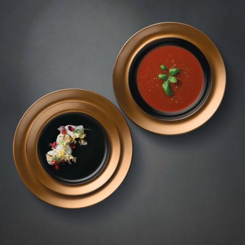 BergHOFF Gem Plate Set - Black/Gold Perspective: top