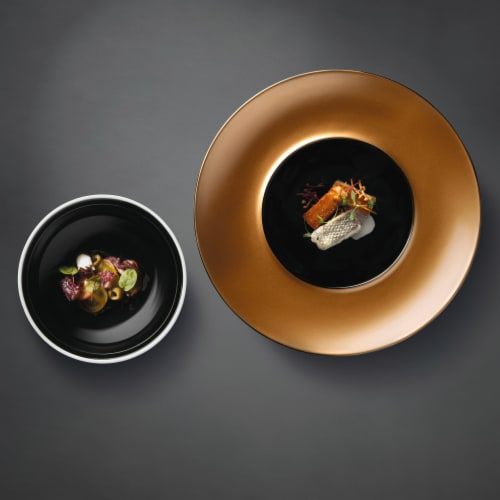 BergHOFF Deep Presentation Plate & Bowl Set - Black/Gold Perspective: top