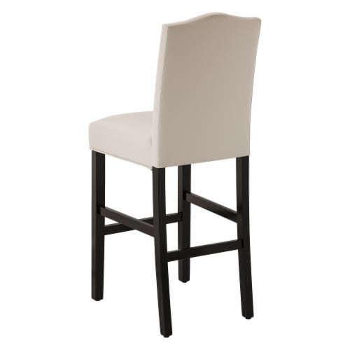 Glitzhome Studded Leatherette Barchair - Cream Perspective: top