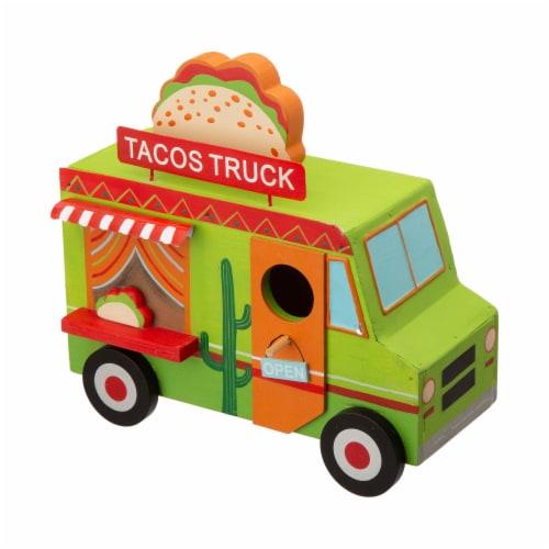 Glitzhome Wooden Mexico Taco Truck Decorative Birdhouse Perspective: top