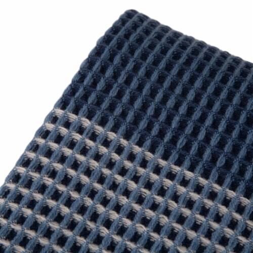 Glitzhome Contemporary Woven Tassel Throw Blanket - Indigo Perspective: top