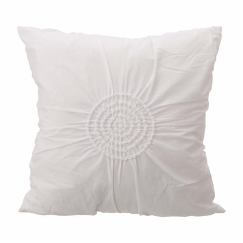 Glitzhome Rhythmic Melody Cotton Comforter Set - 6 Piece - White Perspective: top