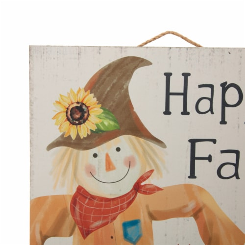 Glitzhome Wooden Autumn Harvest Scarecrow Home Decoration Perspective: top
