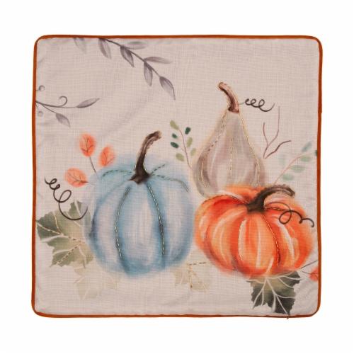 Glitzhome Faux Burlap Harvest Fall Pumpkin Pillow Cover Perspective: top