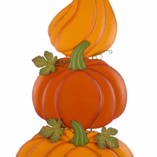 Glitzhome Metal 3-in-1 Pumpkin Yard Decoration Perspective: top
