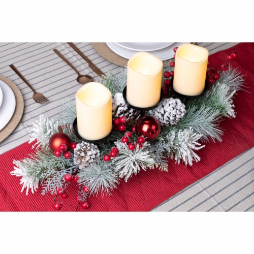 Glitzhome Glittered Candle Holder Center Piece Perspective: top