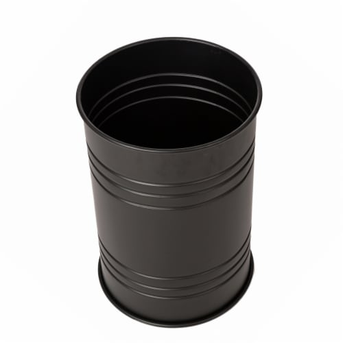 Glitzhome Meta Storage Accent Stools with Wood Lids - Black Perspective: top