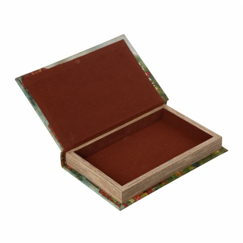 Glitzhome Decorative Wooden Christmas Book Boxes Perspective: top