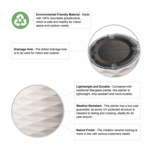Glitzhome Faux Porcelain Round Planter Perspective: top