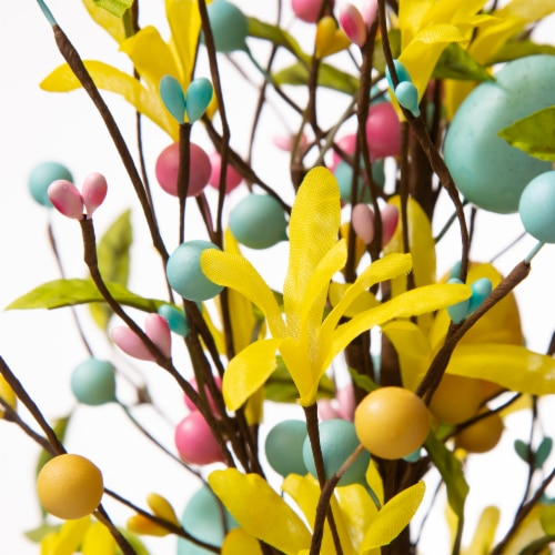Glitzhome Easter Egg Table Tree Decoration Perspective: top