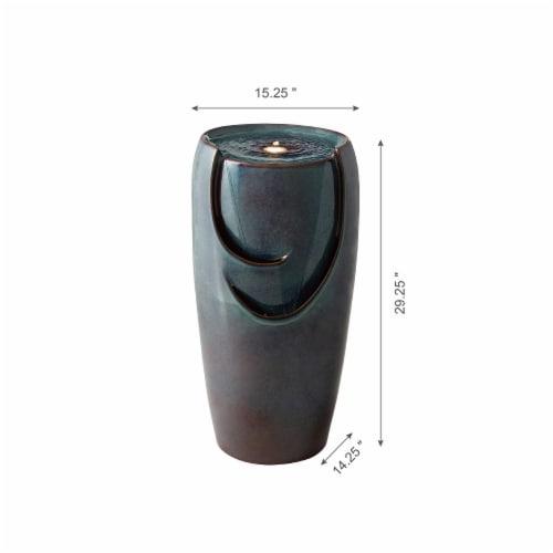 Glitzhome Ceramic Pot Fountain - Turquoise Perspective: top