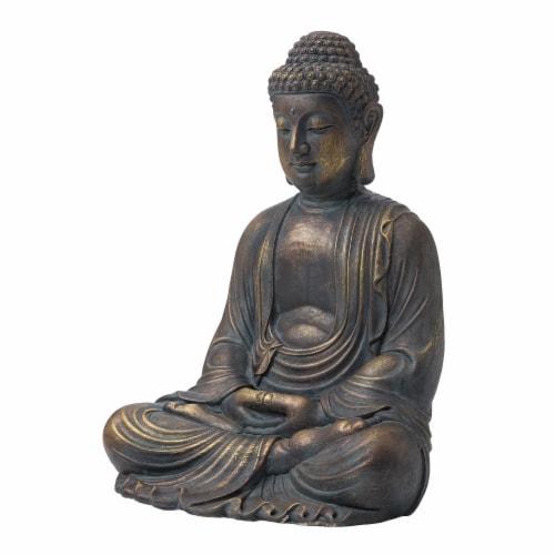 Glitzhome Meditating Buddha Decorative Garden Statue Perspective: top