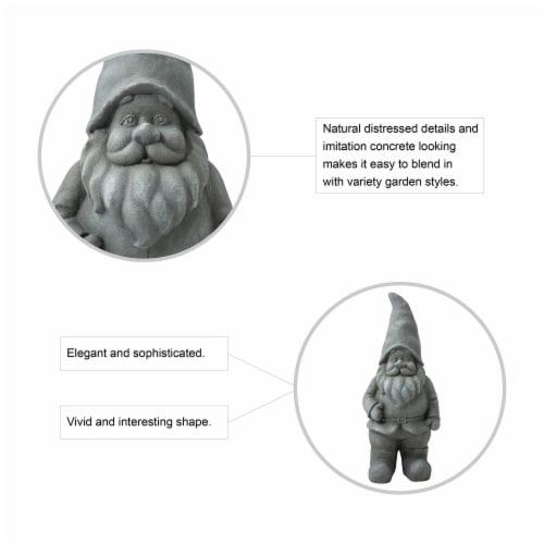 Glitzhome Standing Gnome Garden Statue Perspective: top