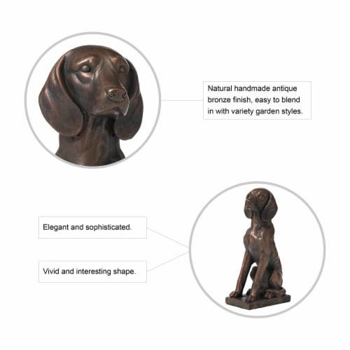 Glitzhome Sitting Dog Decorative Garden Statue Perspective: top