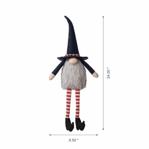 Glitzhome Patriotic Stuffed Fabric Mantel Sitter Gnome Perspective: top