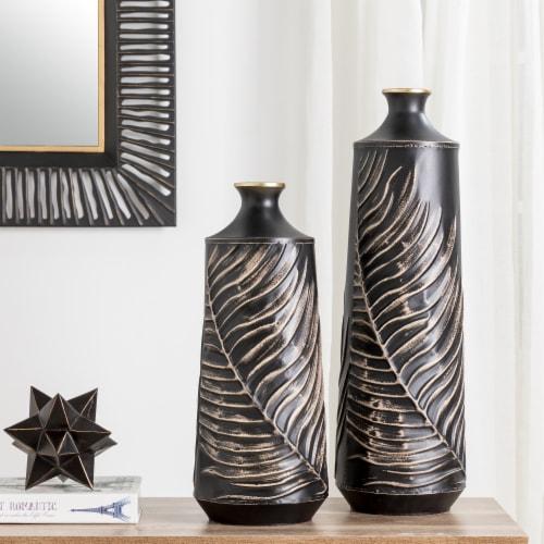 Glitzhome Boho Elegant Decorative Metal Table & Floor Vases Perspective: top