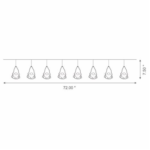 Glitzhome Metal Christmas Gnome Garland Perspective: top