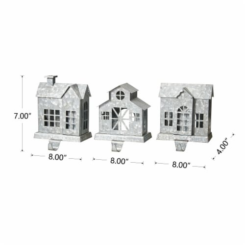 Glitzhome Galvanized House Stocking Holders Perspective: top