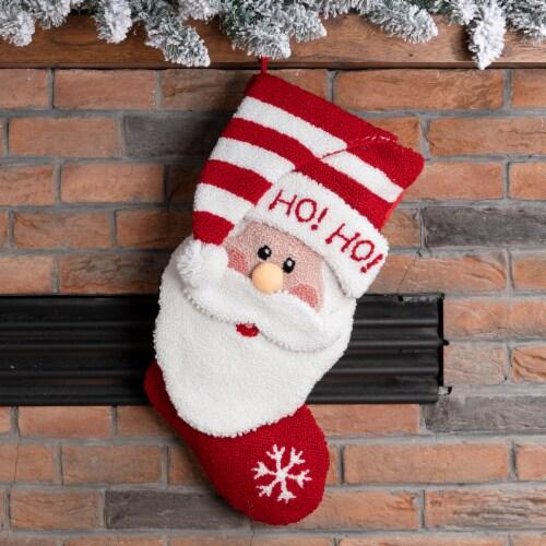 Glitzhome 3D Santa Stocking Perspective: top