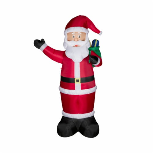 Glitzhome  Lighted Inflatable Santa Holiday Decor Perspective: top