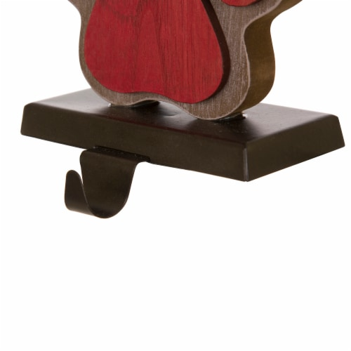 Glitzhome Handcrafted Paw Christmas Stocking Holder - Red Perspective: top