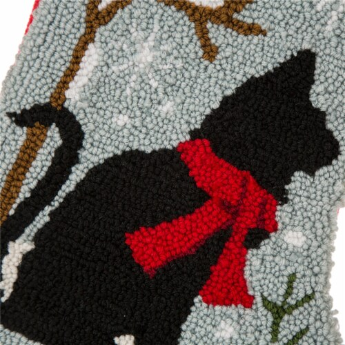 Glitzhome Meow Black Cat Stocking Perspective: top