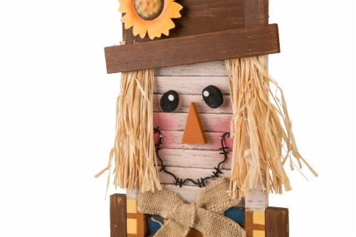 Glitzhome Wooden Scarecrow Hanging Decoration Perspective: top