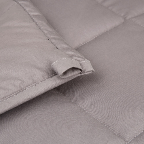 Glitzhome Cotton Quilted Polyester Filled Weighted Blanket - Shell Perspective: top