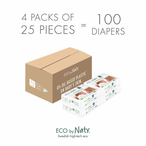 Eco by Naty Newborn Disposable Diapers 100 Count Perspective: top