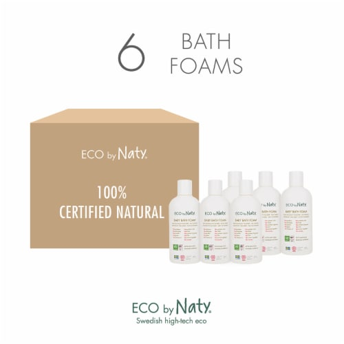 Eco by Naty Baby Bath Foam 6 Count Perspective: top