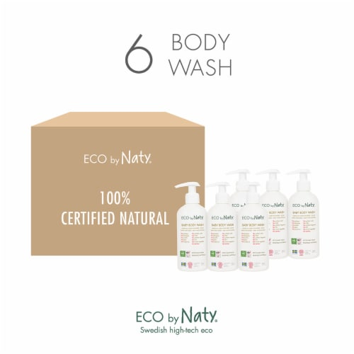 Eco by Naty Baby Body Wash 6 Count Perspective: top