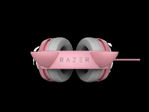 Razer Kraken Kitty Quartz Chroma USB Gaming Headset Perspective: top