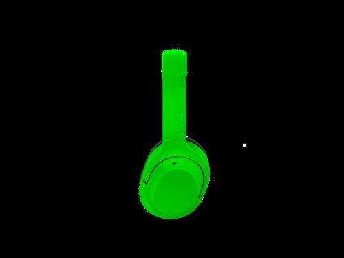 Razer Opus X Green Headphones Perspective: top