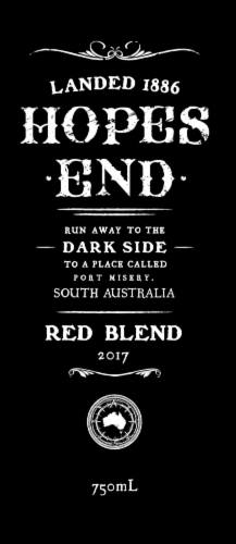 Hopes End Red Blend Red Wine Perspective: top