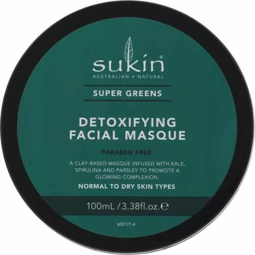 Sukin Super Greens Detoxifying Clay Facial Masque Perspective: top