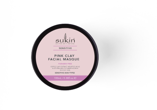 Sukin Sensitive Pink Clay Facial Masque Perspective: top