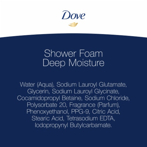 Dove Shower Foam Deep Moisture Foaming Body Wash 4 Count Perspective: top