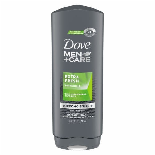 Dove Men + Care Extra Fresh Body Wash Perspective: top