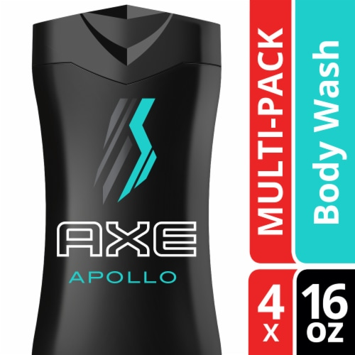 Axe Apollo Sage & Cedarwood Scent Body Wash 4 Count Perspective: top