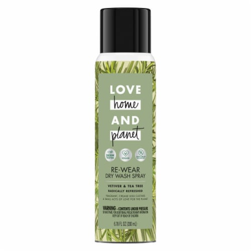 Love Home & Planet Vetiver & Tea Tree Oil Dry Wash Spray Perspective: top