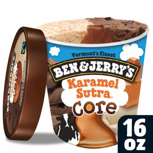 Ben & Jerry's Karamel Sutra Core Ice Cream Perspective: top