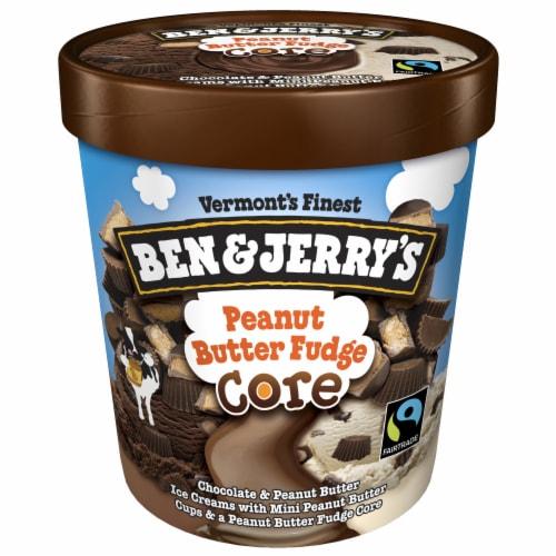 Ben & Jerry's Peanut Butter Fudge CORE Ice Cream Perspective: top