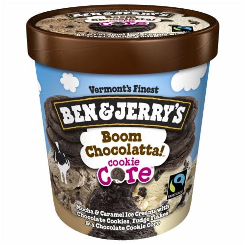 Ben & Jerry's Boom Chocolatta Core Ice Cream Pint Perspective: top