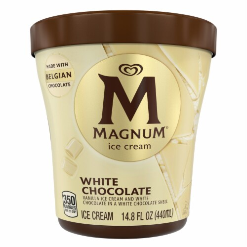 Magnum White Chocolate Vanilla Ice Cream Perspective: top
