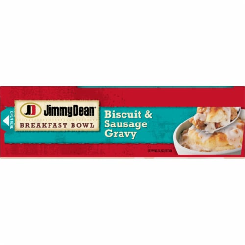Jimmy Dean Biscuit and Sausage Gravy Breakfast Bowl Perspective: top