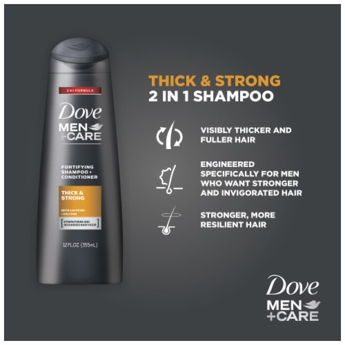 Dove Men + Care Thickening Fortifying Shampoo 4 Count Perspective: top