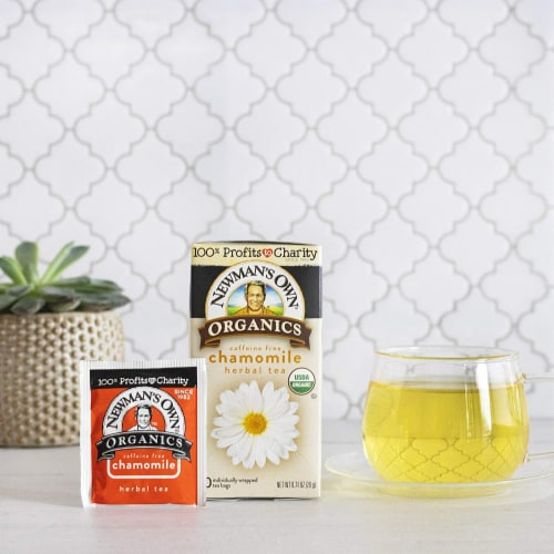 Newman's Own Organics Chamomile Herbal Tea 20ct - 6 Pack Perspective: top
