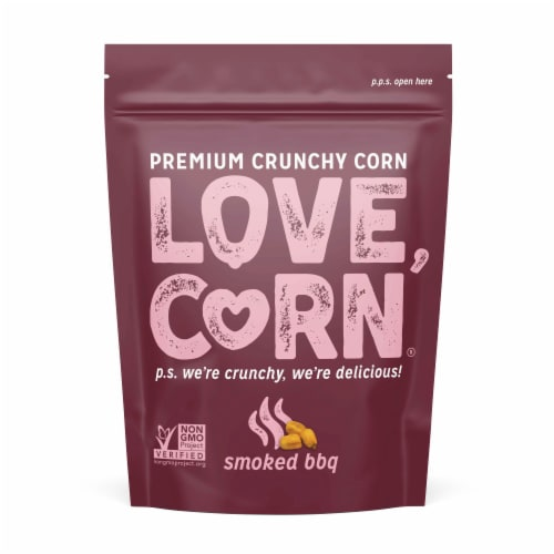 Love Corn Smoked BBQ Roasted Corn Snacks Perspective: top