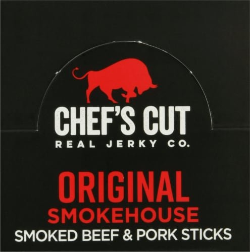 Chef's Cut Original Smokehouse Beef & Pork Snack Sticks Perspective: top